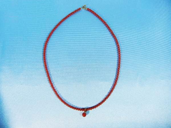 血赤珊瑚のネックレスをお買取