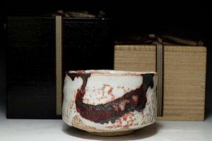 加藤唐九郎の志野茶碗
