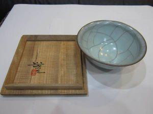 三浦小平二の青磁茶碗