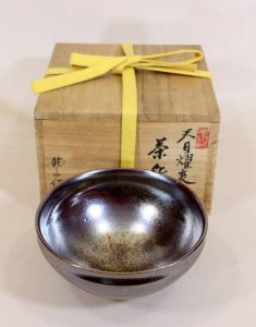 青木龍山の天目茶碗