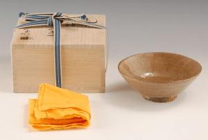 金重素山 灰釉茶碗