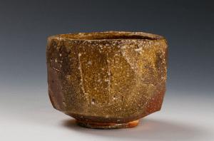 上田直方の信楽焼茶碗