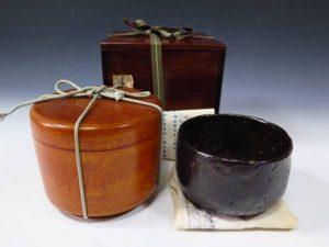 村瀬治兵衛の黒楽茶碗