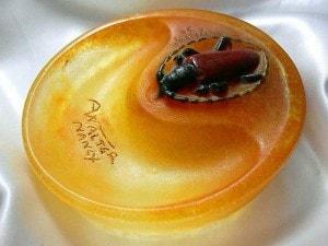 アマルリック・ワルター昆虫文皿