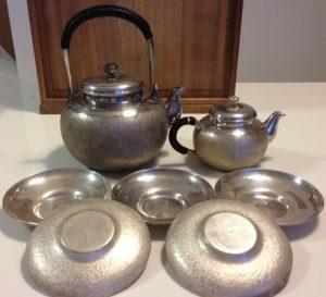銀製の煎茶道具一式