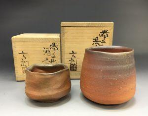 中村六郎の湯呑とぐい呑み