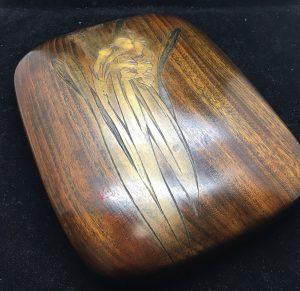 音丸耕堂の木彫硯箱