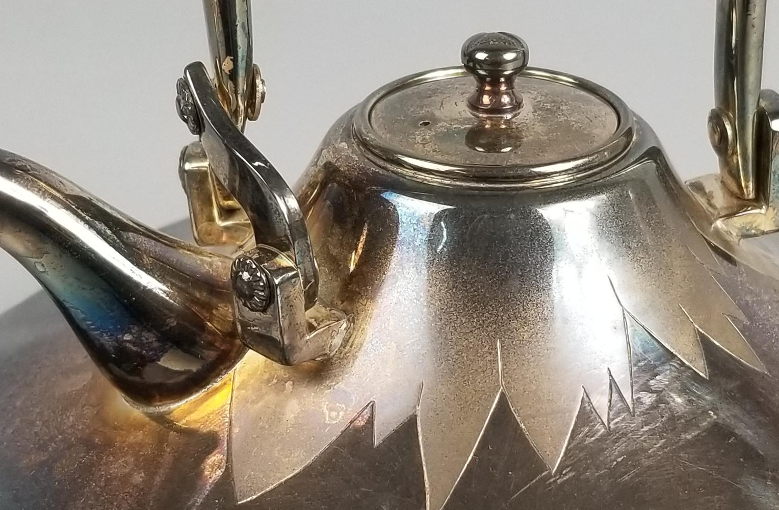 純銀製 富士型銚子 蓋部分