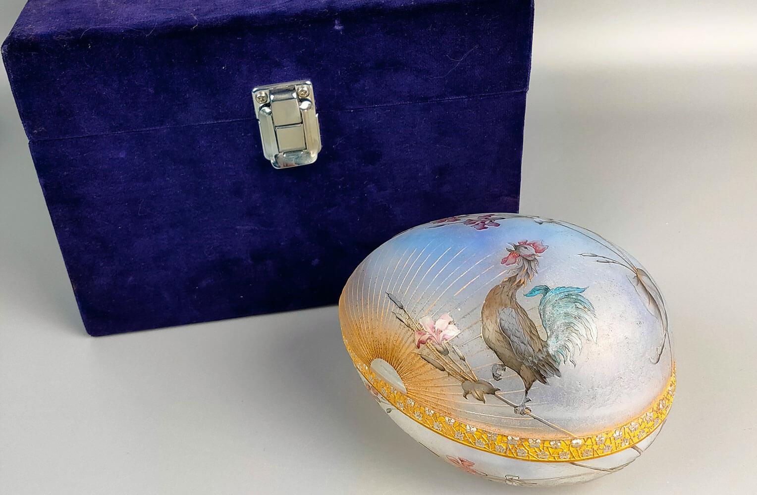 ドームナンシー 鳥図 蓋物 商品画像