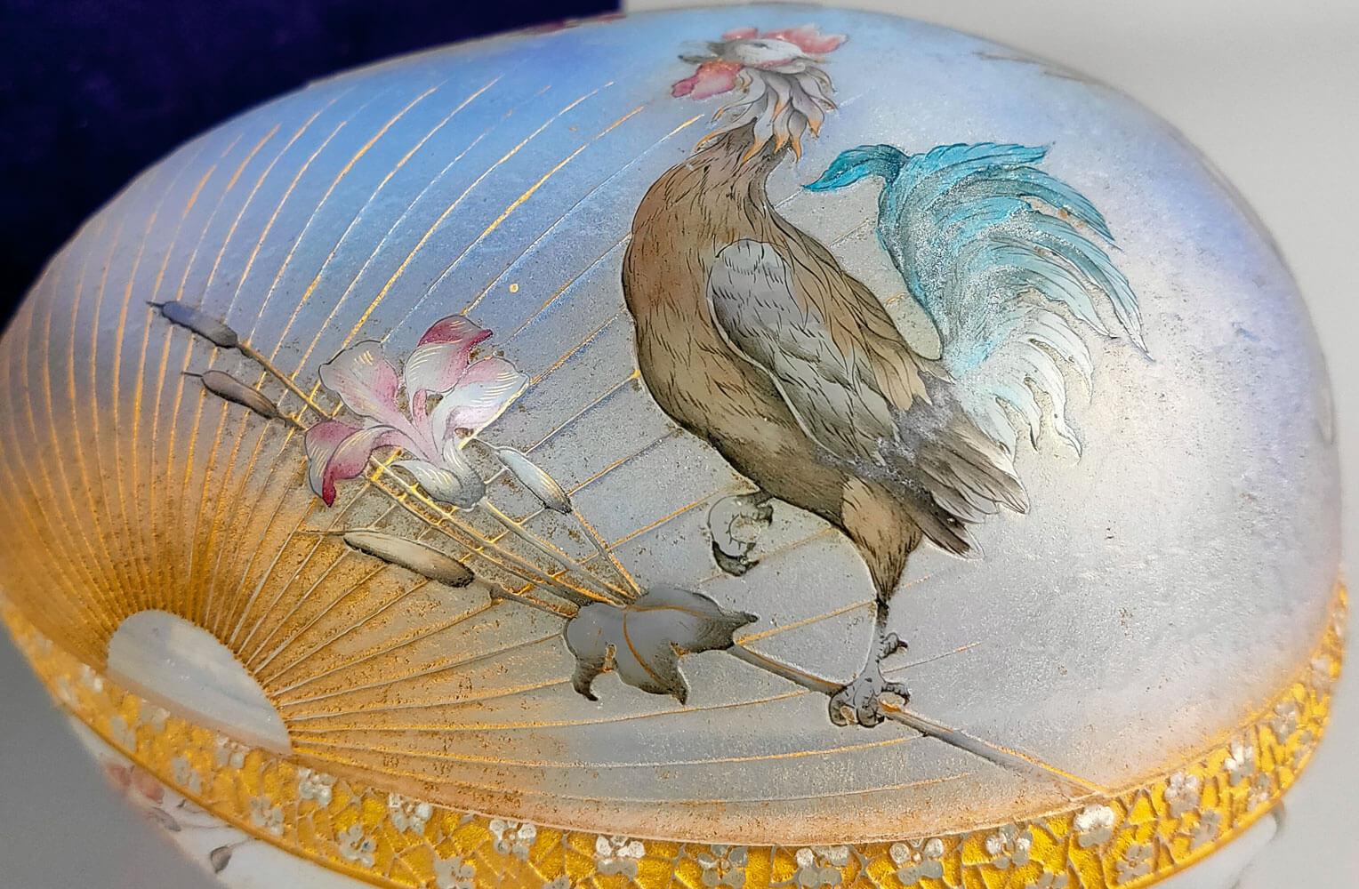 ドームナンシー 鳥図 蓋物 商品アップ画像