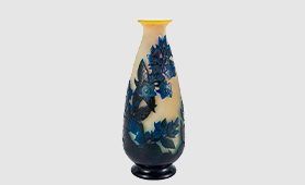 エミール・ガレ カンパニュラ文花瓶