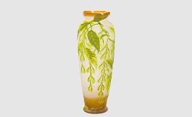 エミール・ガレ ニワウルシ文花瓶