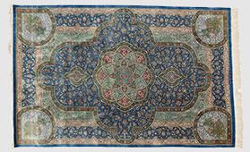 ペルシャ絨毯 クム産