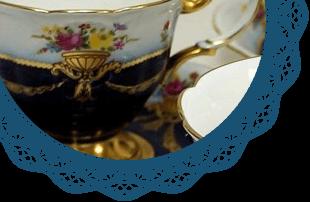 大倉陶園の説明装飾