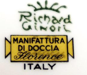 リチャードジノリ イタリアンフルーツバックスタンプ