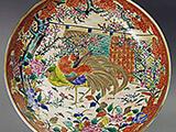 伊万里焼 鶏図大皿