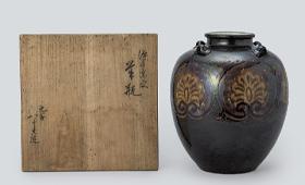初代 徳田八十吉 深厚窯変華瓶