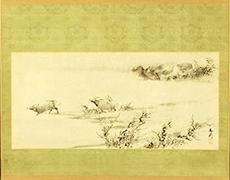 掛軸 谷文晁 風景図