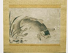 掛軸:鯉図