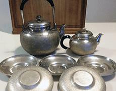 純銀製 煎茶道具一式