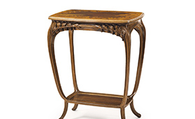 ルイ・マジョレル花文二段テーブル