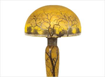ドーム 冬景色文ランプ