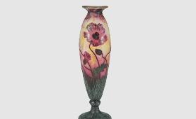 ドーム 芥子文花瓶