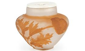 ガレ アネモネ文花瓶