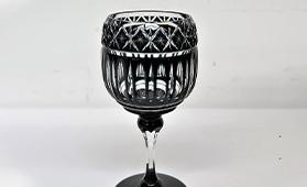 薩摩切子 黒切子 ワイングラス