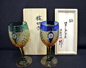 黒木国昭 綾切子ワイングラス