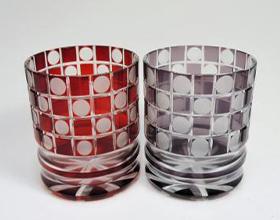江戸切子 ペアロックグラス