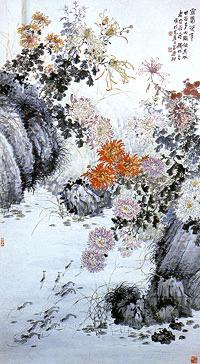 銭松嵒掛軸
