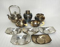 純銀 服部製 煎茶器6点