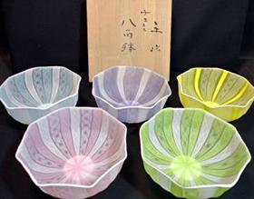 田喬平作八角鉢