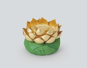 大渕光則 純金「製蓮飾り」
