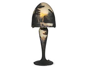 ミューラー 山水風景文ランプ