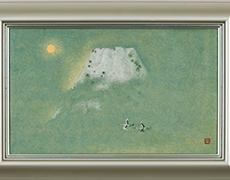日本画 高山辰雄作