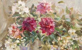 ヴァシリエヴィッチ「窓辺の花」