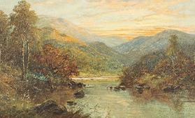 チャールズ・リーダー「ビクトリア風景」