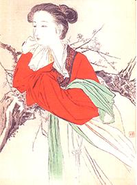 梶田半古絵画