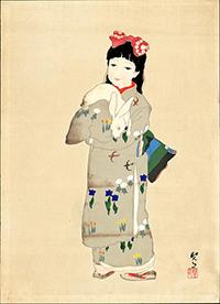 菊池契月絵画