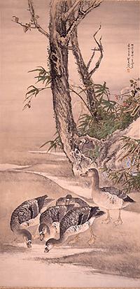 松林桂月絵画