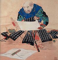 松本楓湖絵画