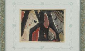 安藤義茂「人物画」