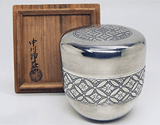 茶器/茶入 古錫 大茶壷