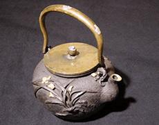 金銀象嵌 鉄瓶