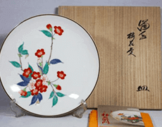 濁手桜花文皿