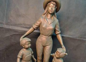 玉野勢三「母子」