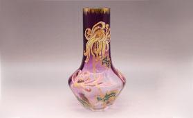 ルグラ《菊文ガラス花瓶》