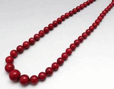 血赤珊瑚 ネックレス
